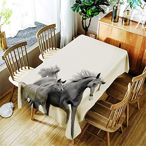 QWEASDZX Tischdecke Mode einfach Polyester Digitaldruck Ölbeständig Antifouling-Tischdecke Wiederverwendbar Multifunktionale Tischdecke Geeignet für den Innen- und Außenbereich 100x140cm