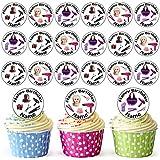 Peluquería Mix 30personalizado comestible cupcake toppers/adornos de tarta de cumpleaños–fácil troquelada círculos