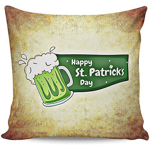 Sonder-Shop Dekokissen Cases Platz Kissenbezüge Kissenbezug Fall Für Sofa, Happy St. Patrick's Day Grüße Party Bier -