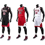 Angel ZYJ Bulls Jordan#23 Camiseta de Baloncesto para Hombres Chicago Bulls Retro Chaleco de Gimnasia Tops y Pantalones Depor