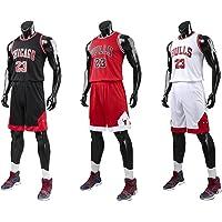 Angel ZYJ Uomo Michael Jordan # 23 Chicago Bulls Retro Pantaloncini da Basket Summer Jerseys Basket Maglie Uniforme Top…