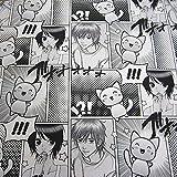 Stoff Meterware Baumwolle Comic Manga schwarz weiß