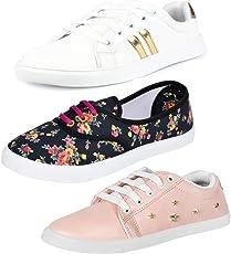 Earton Premium Quality Stylish & Designer Loafer & Moccasins Shoes for Women Size: 4 (Colour: Multicolor) _ 199