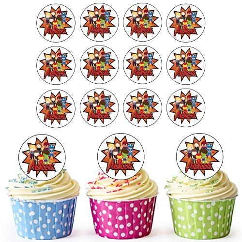 (The Avengers Superhero Cupcake Topper/Kuchen Dekorationen (24Stück)–leicht vorgeschnittenen Kreise)