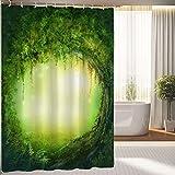 BBFhome Rideaux de douche Rideau 120 X 180 CM décoration salle de bain avec des arbres; Fée décor forêt enchantée artistique; Tissu imperméable de polyester...