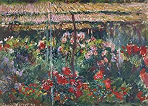 """Claude MONET """" Jardin de pivoine """" Environ 1887 Sur Format A3 Papiers Brillants de 250g. Affiches de Reproduction"""