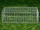 Gabionenkorb, 100 x 50 x 30 cm, Gabionen, Gabione, Steinbox, Raster ca. 100 x 50 mm DD