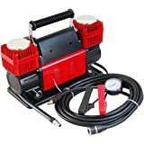 Ultra Extreme 4x4 Tire Super Air Flow Portable Car Air compressor 300 Litter-Mints 150 PSI With Carry Bag Color RED- for Cars