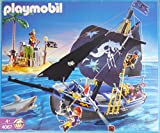 Playmobl 4067 Piratenschiff m. Insel schwarzer Korsar