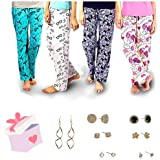 Sgc Women's Cotton Printed Pajama (Pack of 4)