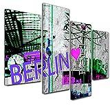 Kunstdruck - Abstrakte Kunst Berlin 06 - violett - Bild auf Leinwand - 120x80cm - 4teilig - Leinwandbilder - Urban & Graphic - Deutschland - Graffiti - Jugend - cool - modern - Urban & Graphic - motorisiert - Harley Davidson - Amerika - Bike