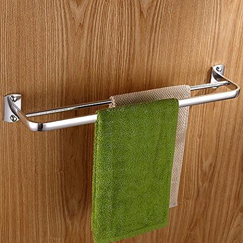Monte muro spazio alluminio doppio telo bar bagno asciugamano rack bagno asciugamano rack scaffale 600 * 120mm