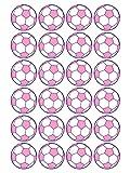 66 Aufkleber, Fußball, Sticker, 30 mm, rosa/lila, aus PVC, Folie, bedruckt, selbstklebend, EM, WM, Bundesliga