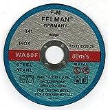 Lot de 50Disque à tronçonner pour acier inoxydable 125x 1,6mm wa60F felman Inox