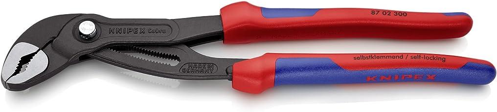 Knipex 87 02 300 Cobra – Hightech-Wasserpumpenzange für Rohre bis 70 mm Ø 300 mm
