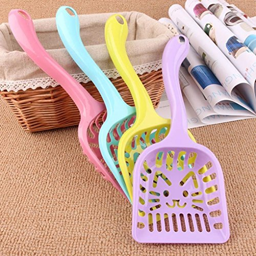Pets Empire Outdoor Plastic Pet Dog Cat Litter Scoop Shovel Sand Waste Cleaning Tool Shovel 1 Piece Color May Vary