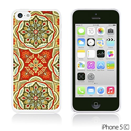 OBiDi - Fabric Pattern Hard Back Case / Housse pour Apple iPhone 5C - Pink Floral Fabric Prints Waverly Tapestry Pattern