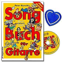 Peter Bursch's Songbuch für Gitarre Band 1 - Eine tolle Sammlung von Rock- und Popsongs, die leicht zu spielen und zu singen sind - mit CD und bunter herzförmiger Notenklammer