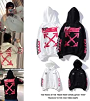 OFF white element fashion hooded pullover winter hoodie men's large size coat women's hooded vests