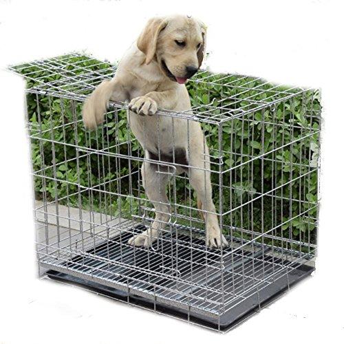 SL&ZX Klappbarer metall hundebox,Allzweck kleiner hund kaninchen käfig einzelne tür haustiere hund kiste groß hund laufstall hund haustier laufstall-A 70x50x60cm(28x20x24inch) (Metall-hasen Käfig)