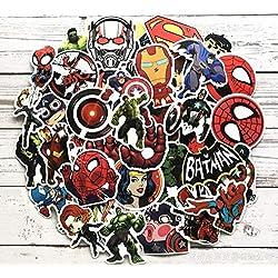 Lot de 100 Autocollants de Dessin animé Marvel Super Hero DC pour Bagage Voiture Ordinateur Portable Notebook Autocollant frigo Skateboard Batman