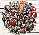 Lot de 100 Autocollants de Dessin animé Marvel Super Hero DC pour Bagage Voiture...