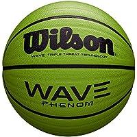 Wilson WAVE PHENOM Pelota de baloncesto para cualquier superficie, asfalto, pavimento deportivo, tamaño 7, verde, WTB1888XB01