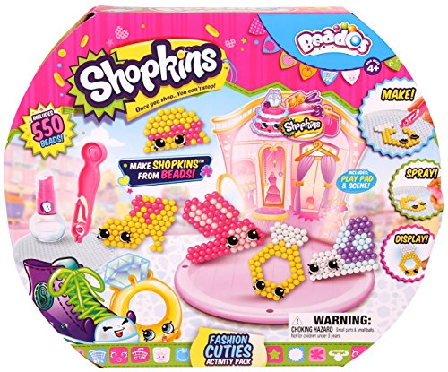 Beados Shopkins Activity PK Fashion Cuties, Toys for Girls, 4 Years & Above, Collectible Toys, Activity Toy