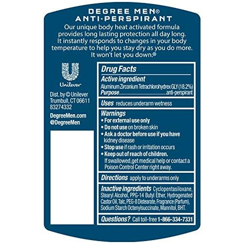 Degree Deodorant 2.7oz Mens Extreme Blast (6 Pack)