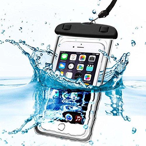 Oramics 100% wasserdichte Schutzhülle Handyhülle – für Unterwasserfotografie – inklusive Trageschlaufe, Wasserdichter Beutel für Handy und Kamera, Handytasche, Unterwasserhülle, Urlaubshülle für den Strand (Schwarz)