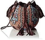 Antik Batik Damen Mallo Bag Umhängetasche, Braun (Brown), 19x19x20 cm