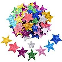 ab1c129f456 ... goma eva purpurina. Pegatina de Espuma Brillante Pegatina de Estrella  Autoadhesiva para Decoración de Fiesta de Halloween Navidad