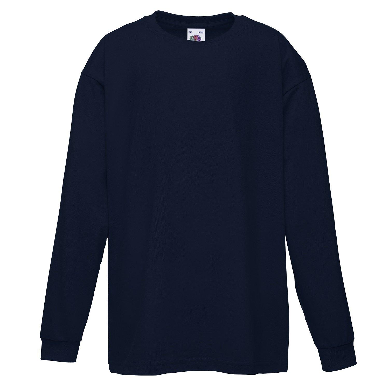 Black t shirt amazon - Fruit Of The Loom Childrens Kids Long Sleeve Cotton Value T Shirt T Shirt Tee Shirt Amazon Co Uk Clothing