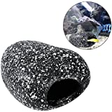 UEETEK UEETEK Fish Tank Cichlid piedra Bream Pot Hideaway Crianza Cave Aquarium Decor - Tamaño S (Snowflake Stone)