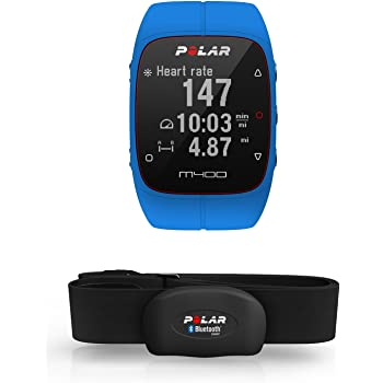 Polar M400, Orologio GPS con Fascia Cardio Bluetooth Smart Adulto Unisex, Blu, M