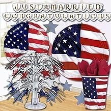 guirnalda bandera EEUU bandolera fiesta temática americana diseño Estados Unidos Cadena para fiesta Cinta barras y estrellas cumpleaños americano Ornamentación fiesta americana Tira colgante de fiesta estadounidense Accesorios de celebración US