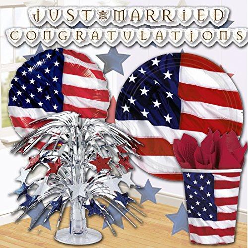 and Stripes Tischdekoration Star-Spangled Banner Tischtuch Amerika Folientischdecke Amerikanische Mottoparty Table Cover Tafeltuch abwaschbar Wachstuch Tischdeko (Star Tischtuch)