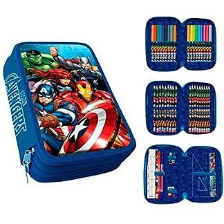 Los Vengadores- Plumier 3 Cremalleras Avengers PVC Patch+Clamshell, Color 0 (AST1775)