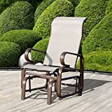 Outsunny Glider Rocking Chair Single Seater Rocker Seat - Best Reviews Guide