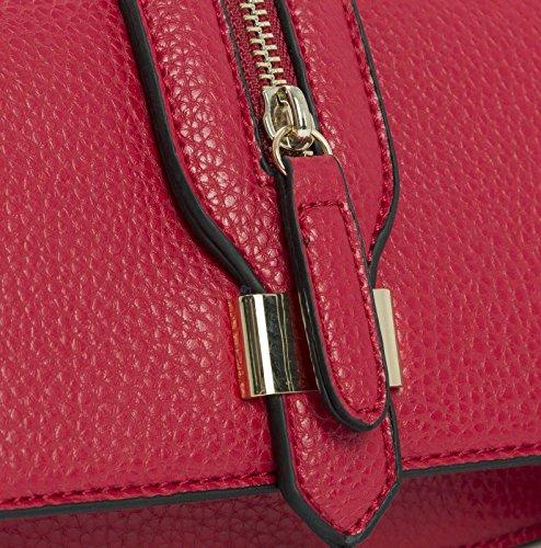 Big Handbag Shop - Borsa a tracolla donna (rosa)