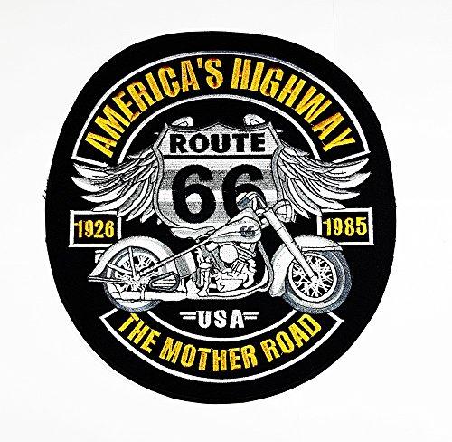 66American National Historic Highway Road Sign Rider Biker Motorrad Patch Sew Iron on gesticktes Badge Schild Kostüm (Road Biker Kostüm)