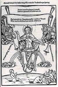 Reproduction 60 x 75cm - Albrecht Durer - trompettes Du Jugement Dernier -