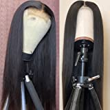 Straight Lace Front Wigs Human Hair Pre Plucked 4x4 Lace Closure Brazilian Virgin Human Hair Wig for Black Women 150% Density
