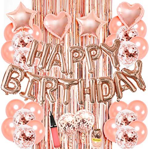 Kreatwow Decoraciones cumpleaños Oro Rosa niñas