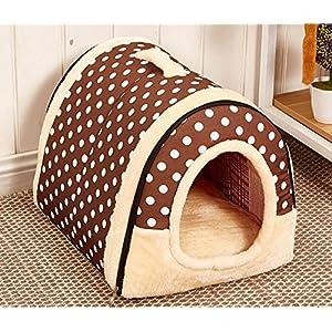 Letto Pieghevole Cuccia Divano Cuscini Domestico Letto Cani Casa per Animali Domestici Cane e Gatto M:45x35x35CM