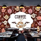 Grande murale Torta di caffè europea Carta da parati gastronomica Caffè Pasticceria Negozio Tempo libero Grande murale Negozio di tè Grana di l carta da parati fotomurali murale vintage-430cm×300cm