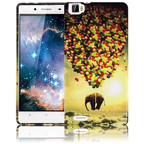 CUBOT X16 X17 X17S - FLIEGENDER ELEFANT Silikon (NICHT FÜR CUBOT X16S) weiche Tasche Cover Case Bumper Etui Flip smartphone handy backcover thematys®