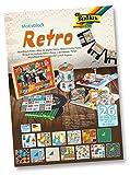 Folia Retro Papier, mehrfarbig 26pièce (S) selbstklebend, dekorativ,–Aufkleber Dekorative (Karton, Papier, mehrfarbig, 240mm, 340mm, 26Stück (S))