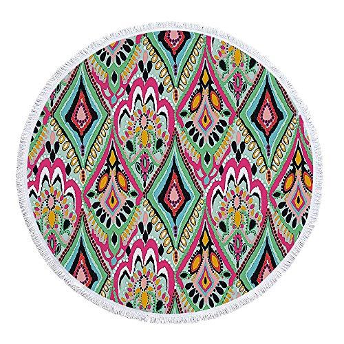 SUYUN Bedrucktes rundes Strandtuch mit gefranstem Sonnenschutz -06 150 * 150cm - Ultra-sensitiv-system