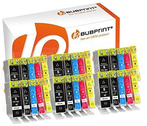 Bubprint 30 Druckerpatronen kompatibel für Canon PGI-5 CLI-8 für Pixma IP3300 IP3500 IP4200 IP4300 IP4500 IP5200 IX4000 MP510 MP600 MP610 MP970 MX700 (Pixma Drucker Ip4200 Canon)